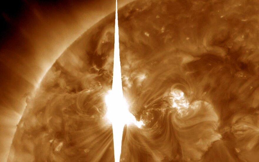 На Солнце зафиксировали вторую за день мощную вспышку