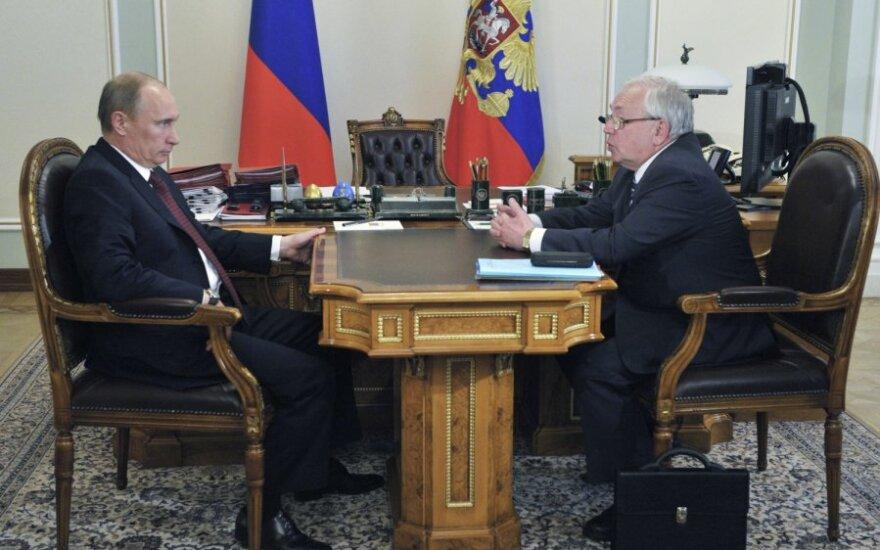 Ombudsmenas Vladimiras Lukinas susitikime su Vladimiru Putinu