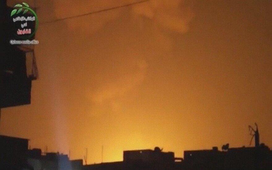 Izraelio aviacija atakavo Sirijos karinių tyrimų bazę ties Damasku