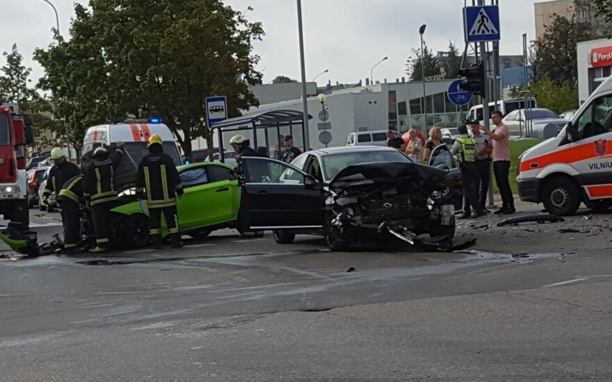 В Вильнюсе произошло ДТП, пострадали 3 человека