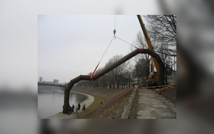 """В центре Вильнюса появилась """"труба"""""""