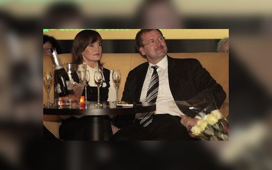Viktoras Uspaskich su žmona Jolanta Blažyte