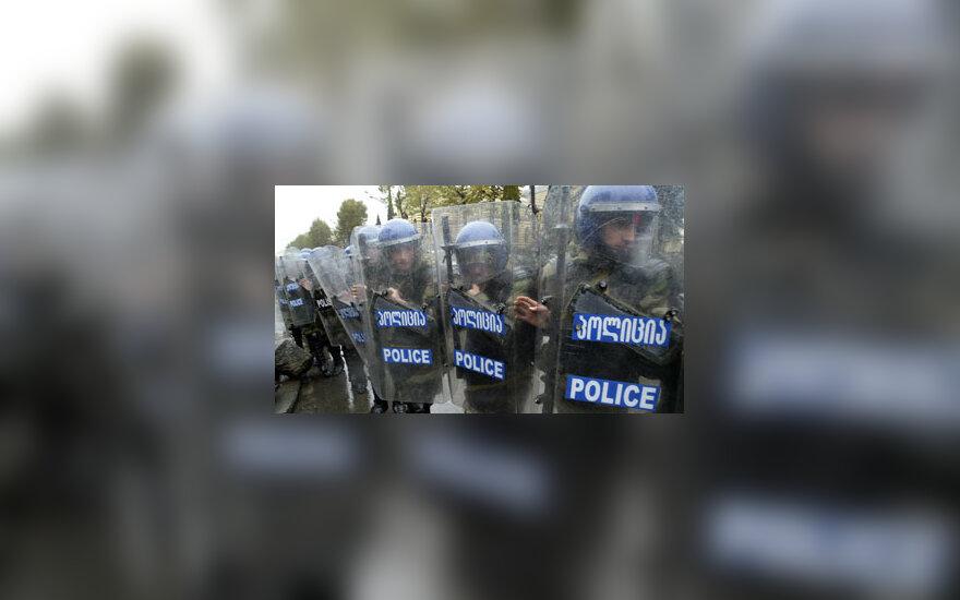 Malšinama opozicijos protesto akcija Gruzijoje