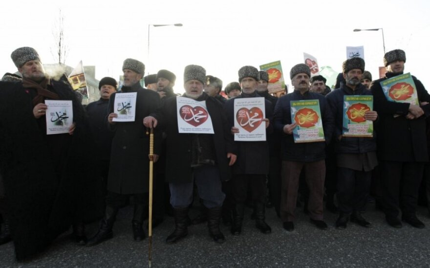 "Митинг в Грозном: за ""любимого пророка"" и против Запада"