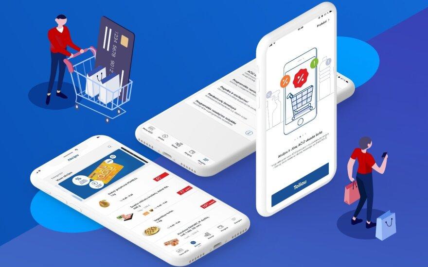 Maxima предлагает рассчитываться за покупки с помощью мобильного приложения