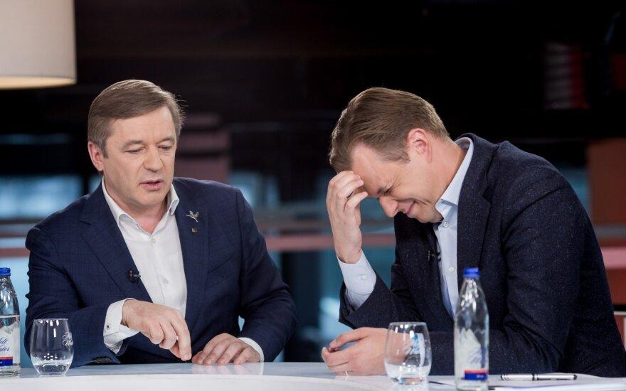 Ramūnas Karbauskis ir Gabrielius Landsbergis