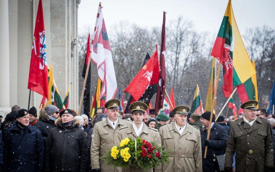 Тысячи людей в центре Вильнюса праздновали День восстановления независимости Литвы