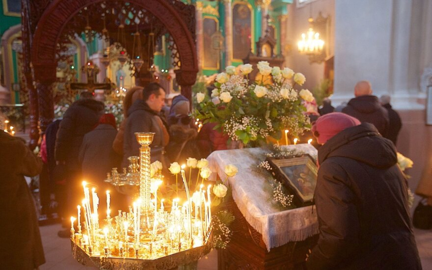 Православные верующие Литвы отмечают Рождество Христово