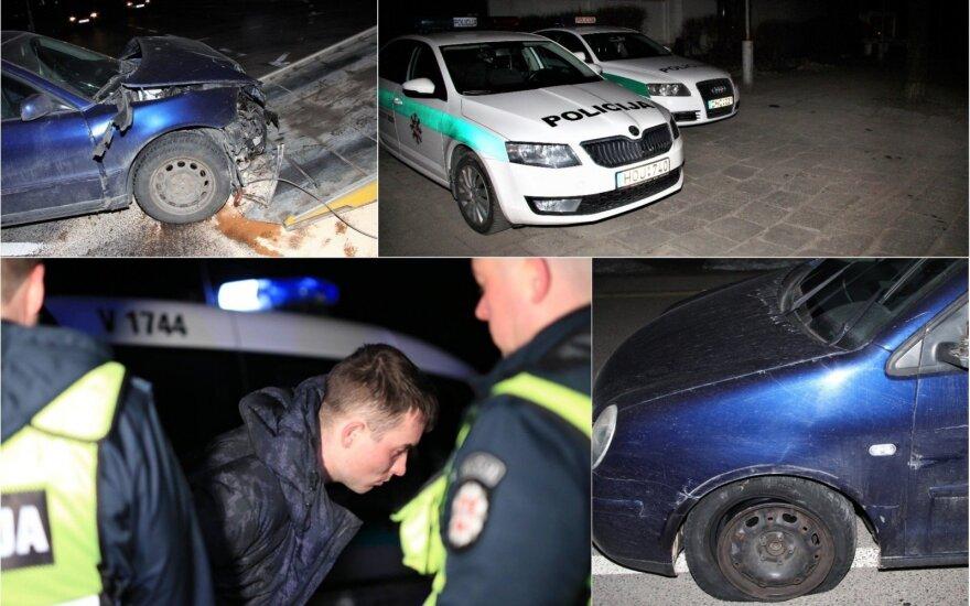 Ночь в столице: аварии и погоня за пьяным водителем