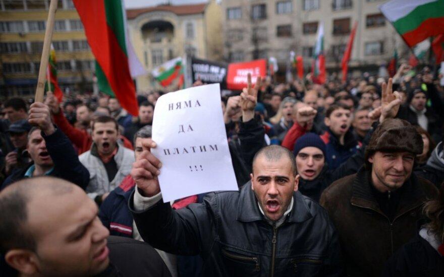 Bulgarijoje vyko protestai prieš dideles sąskaitas už elektrą