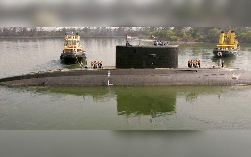 Indijos povandeniniame laive įvyko sprogimas