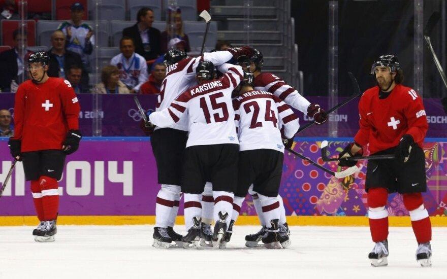 Olimpiados aštuntfinalis: Latvija – Šveicarija