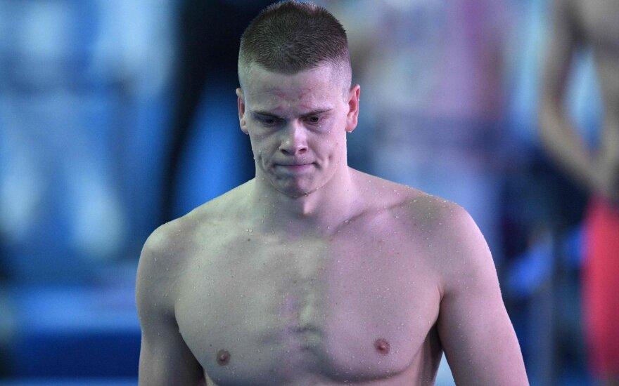 В финале чемпионата мира литовский пловец Рапшис был дисквалифицирован