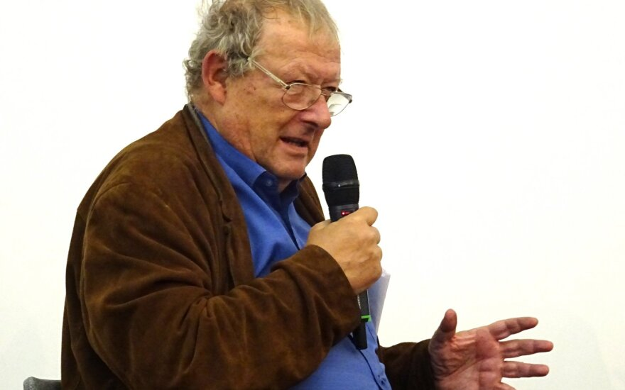 Адам Михник в Литовской национальной библиотеке им.М.Мажвидаса