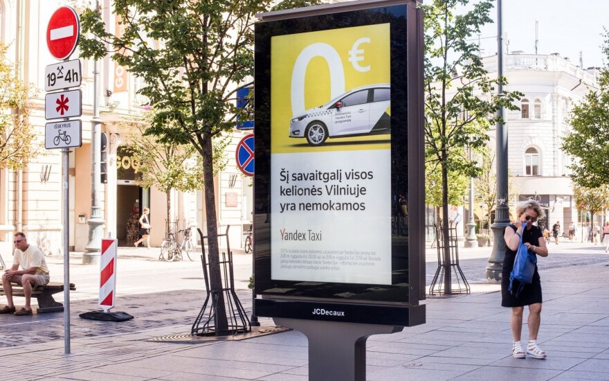 Антимонопольная служба Литвы указала Yandex. Taxi изменить или отозвать рекламу
