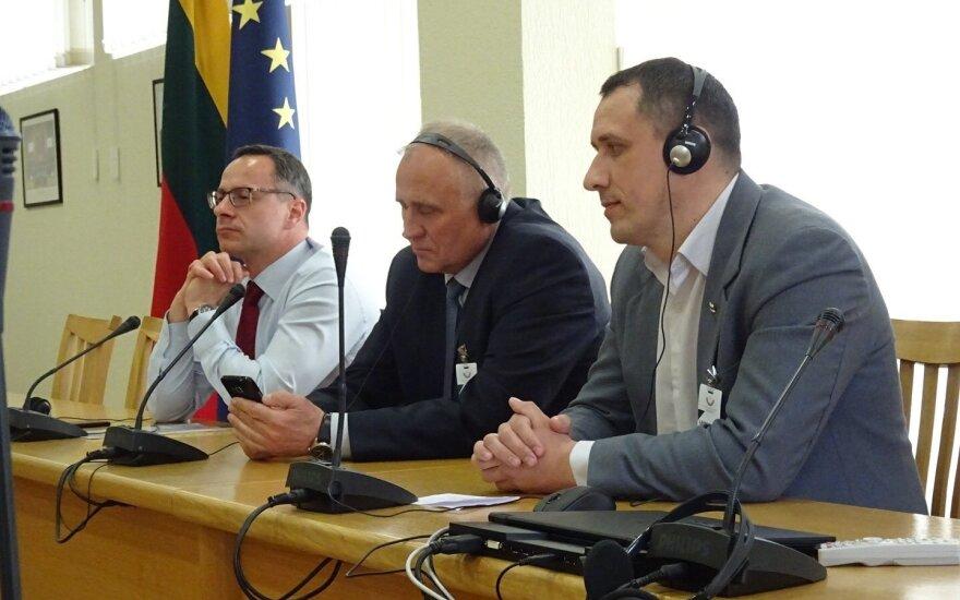 Белорусские политики Николай Статкевич и Павел Северинец в Сейме Литвы