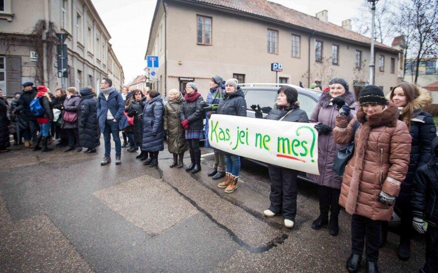 Министерство образования Литвы: количество бастующих учителей сокращается