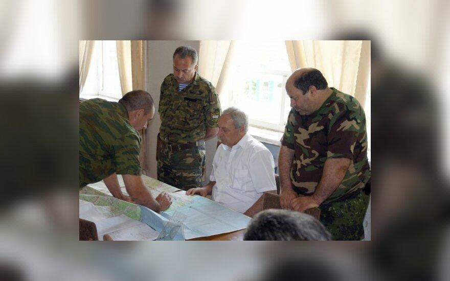 Abchazų separtistų vadas S.Bagapšas palnuoja puolimą