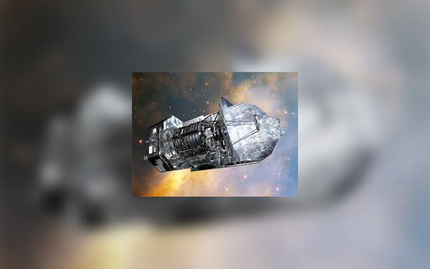 Изображение ESA (Image by AOES Medialab); background: Hubble Space Telescope, NASA/ ESA/ STScI