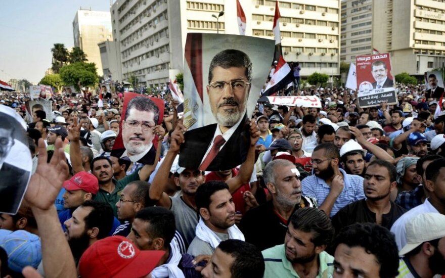 M. Mursi šalininkų protestas Egipte