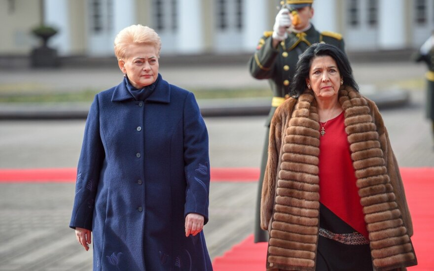 "Президент Литвы - президенту Грузии: ""Ваша страна оставлена один на один с Россией"""