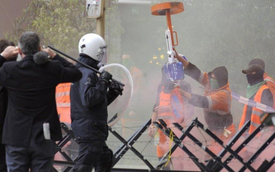 Демонстрация в Брюсселе переросла в столкновения