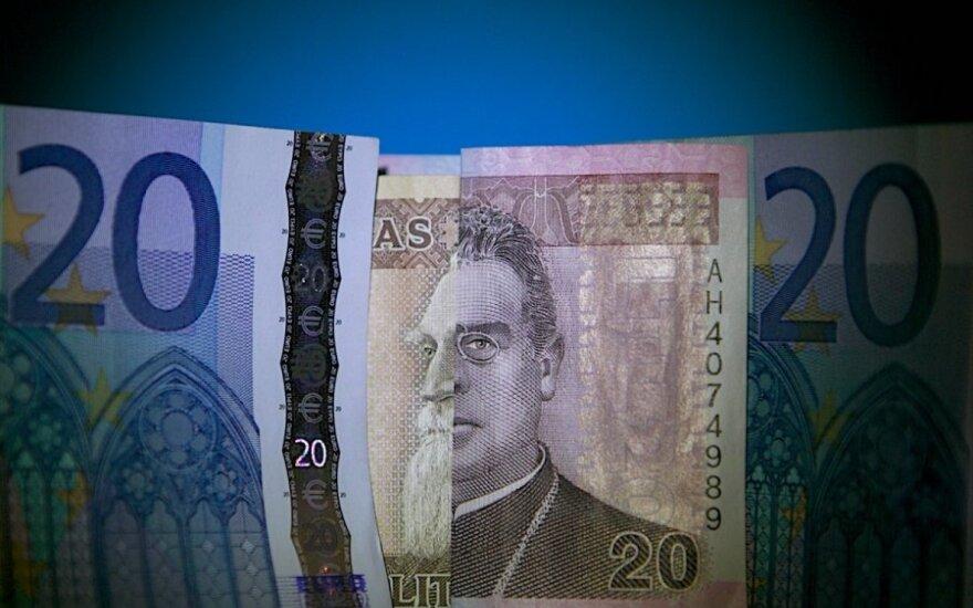 За два месяца в Литве на евро обменяли 2,8 млрд. литов наличными