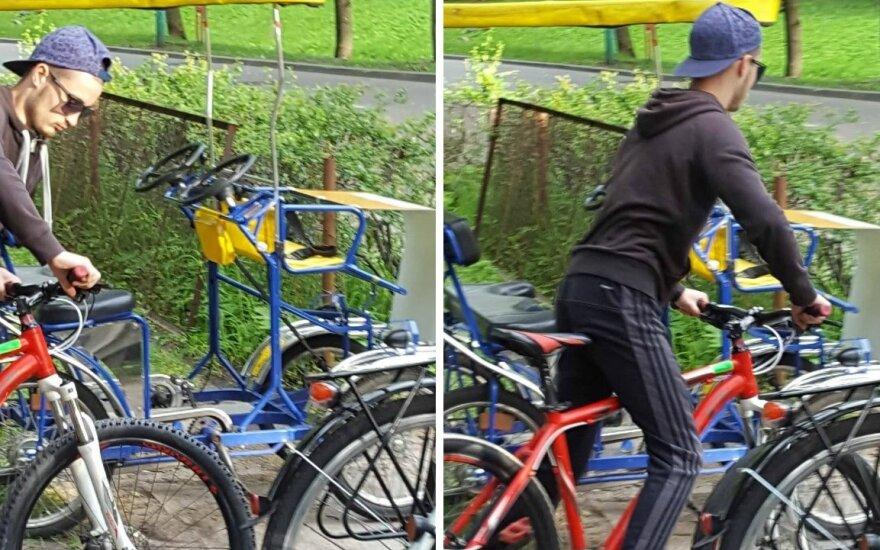 Įtariamasis dviračių vagystėmis.
