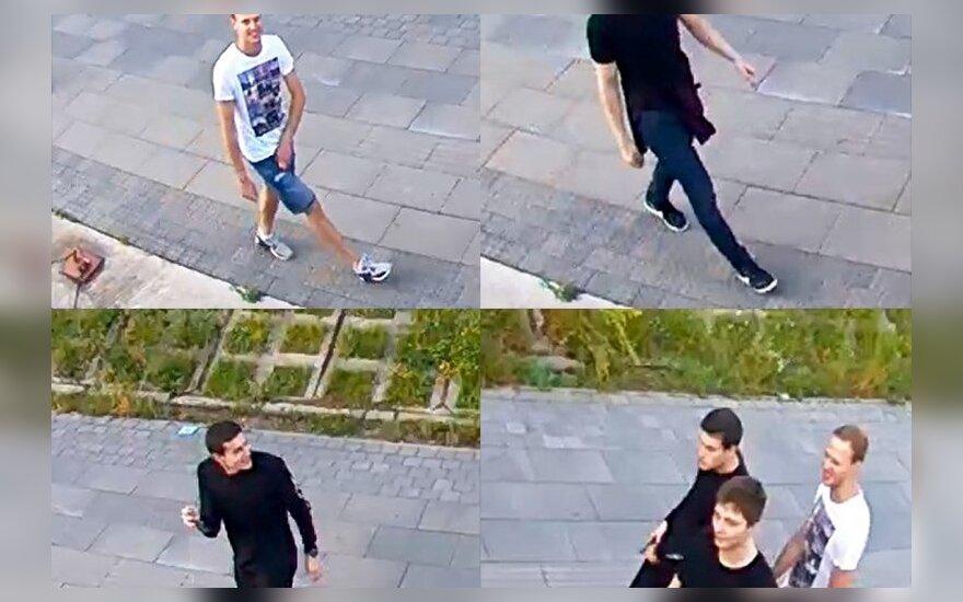 Полиция просит помочь выяснить личности зафиксированных на фото молодых людей