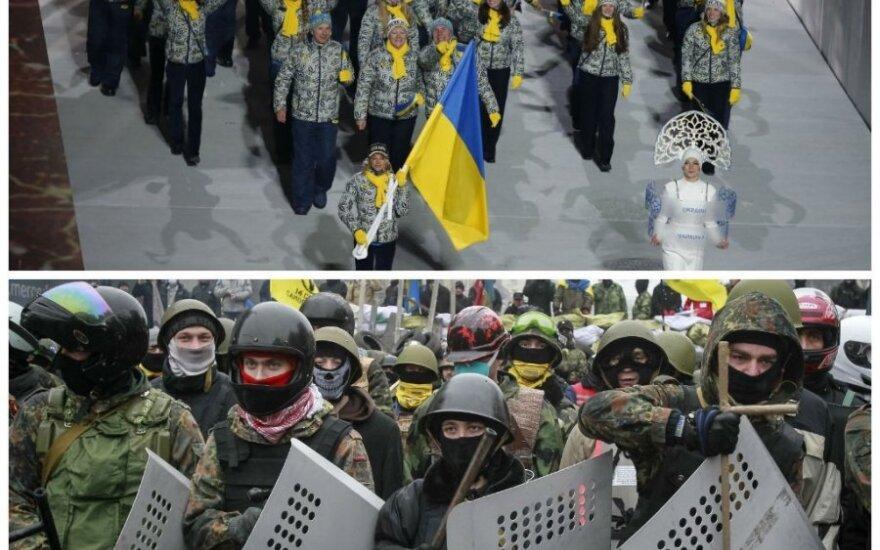 Neramumų Ukrainoje aidai ritasi į Sočio olimpines žaidynes (Reuters nuotr.)