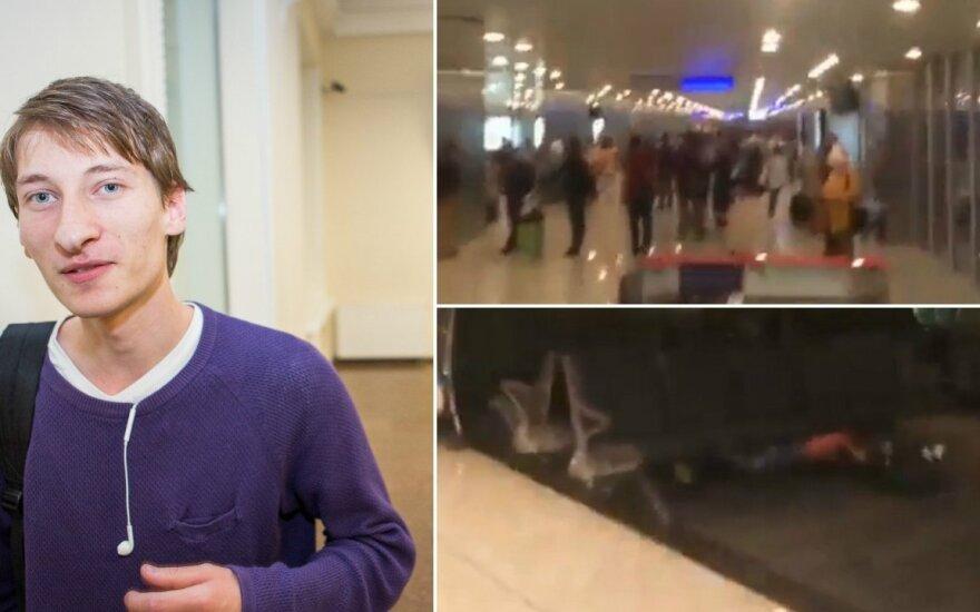 Литовец стал свидетелем теракта в аэропорту Стамбула: люди падали под сиденья