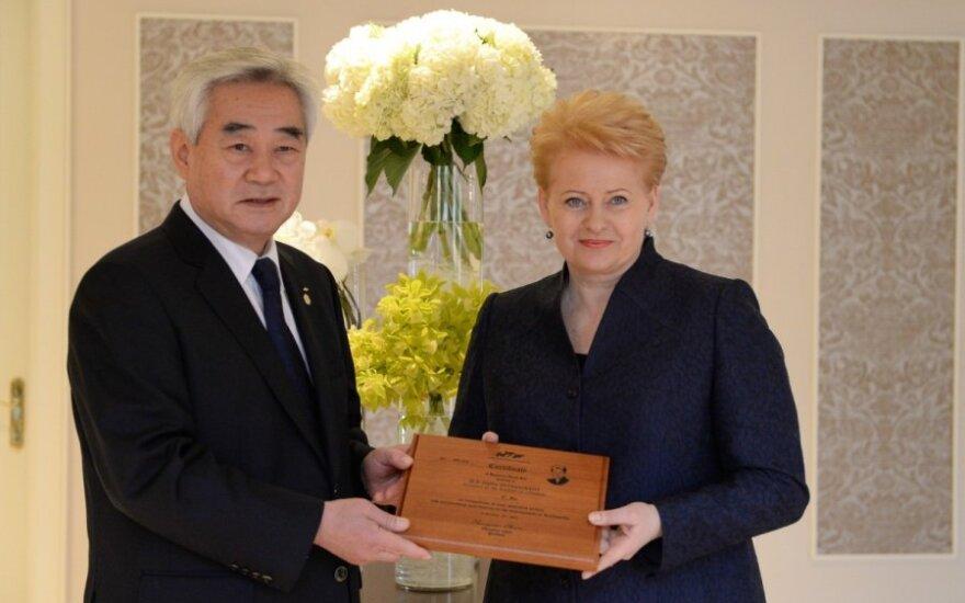 Dalia Grybauskaitė otrzymała czarny pas taekwondo
