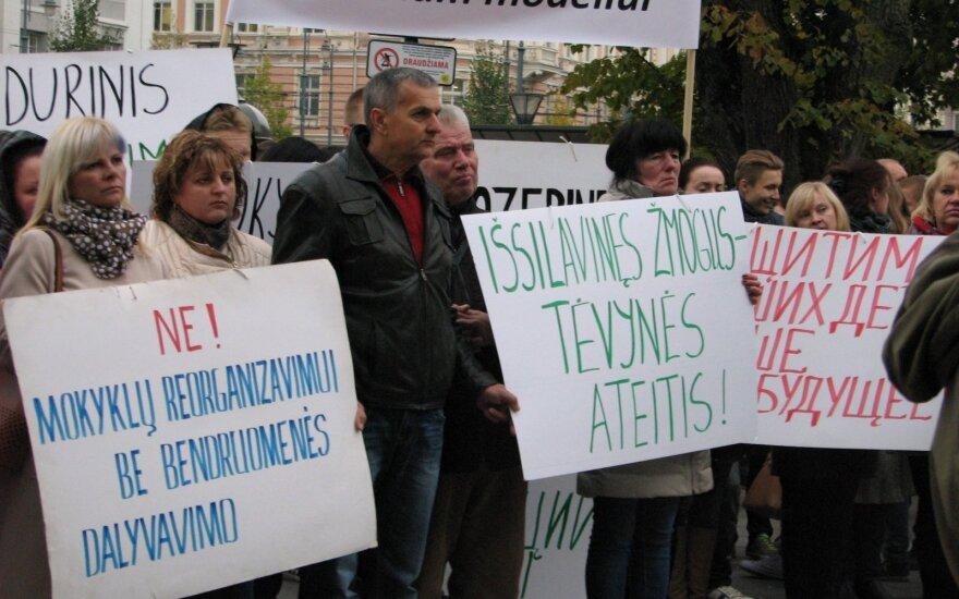 В Вильнюсе протестовали против социальной и образовательной политики