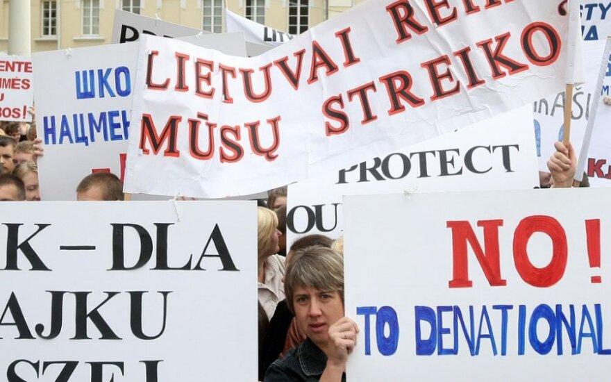 Союз поляков Литвы временно приостанавливает забастовку