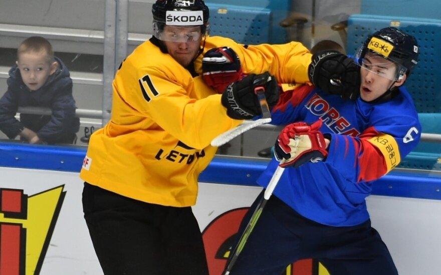 Pasaulio ledo ritulio IA čempionatas: Lietuva - Pietų Korėja (Foto: Maratas Akimžanovas)