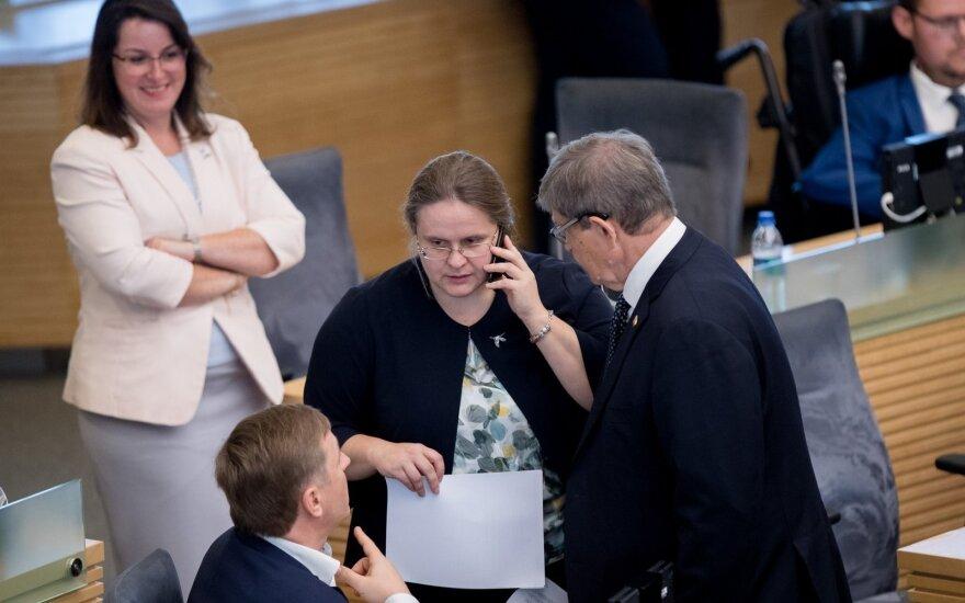 Сейм под руководством Ширинскене будет расследовать коррупцию со стороны прежних властей