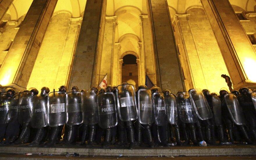 Protestas prie Gruzijos parlamento