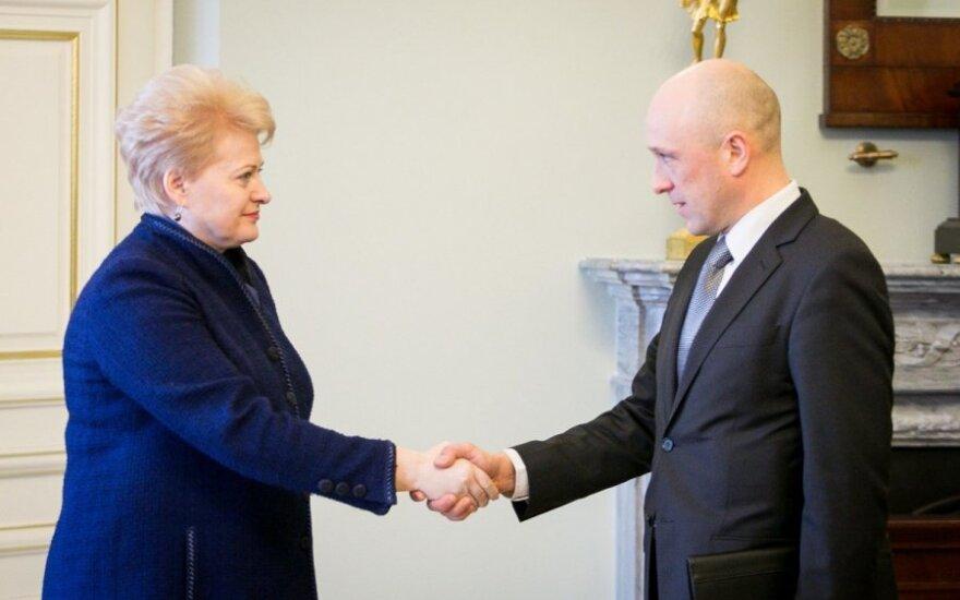 Dalia Grybauskaitė i Saulius Urbanavičius