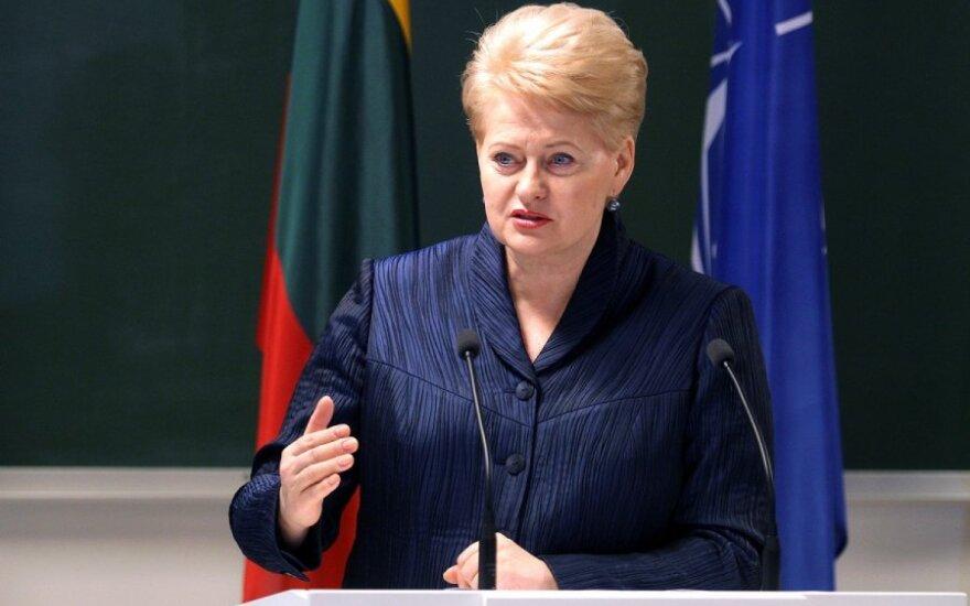 Dalia Grybauskaitė: Głodny, zły sąsiad nie jest dobrym sąsiadem