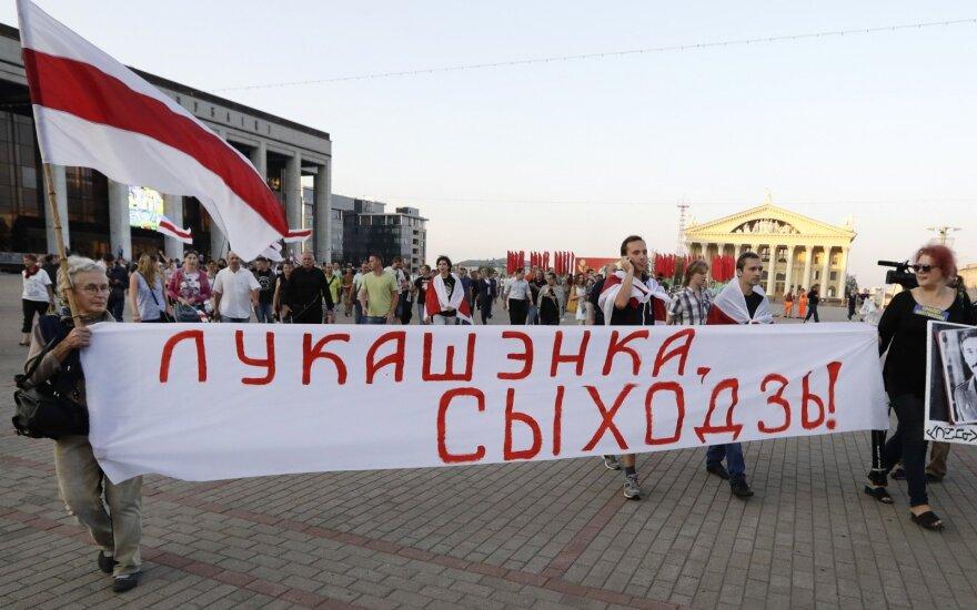 Minske įvyko opozicijos mitingas prieš rinkimų klastojimą