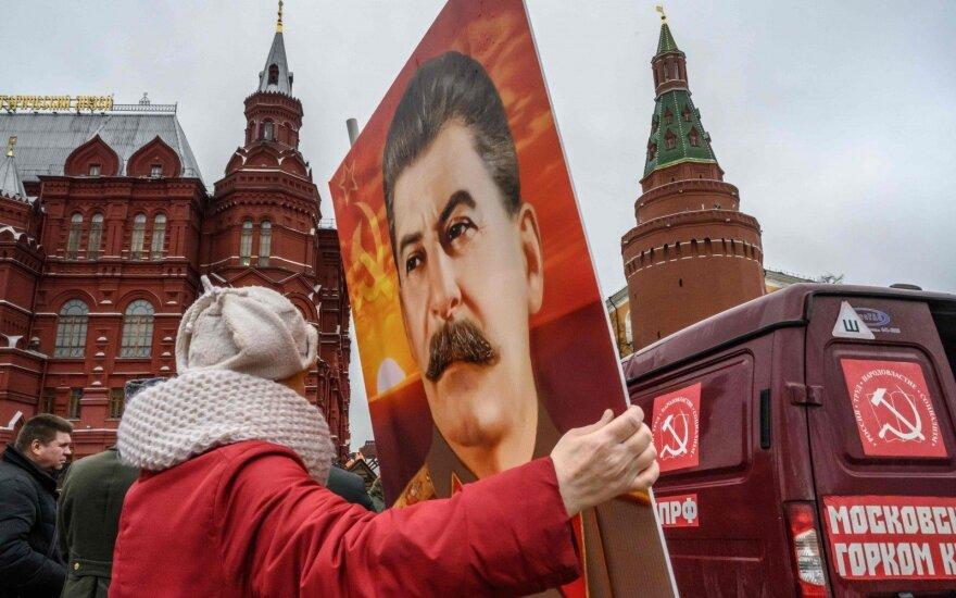 Josifo Stalino portretas Raudonojoje aikštėje