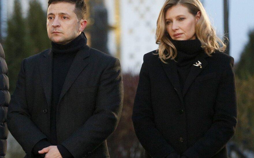 Volodymyras Zelenskis ir Olena Zelenskaja