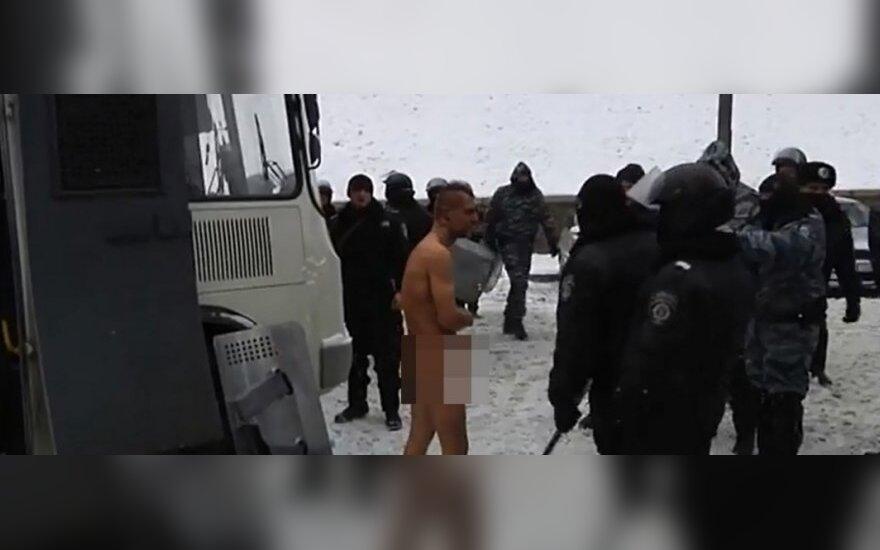 Подозревают, что над активистом Майдана мог издеваться и литовец
