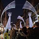 Angelai, kalėdinės dekoracijos Londone