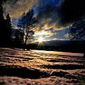 Žiema, sniegas, šaltis, saulė