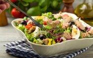 Gaivios tuno ir daržovių salotos
