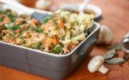 Bulvių ir pievagrybių apkepas