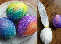 Pasidalijo neįprastu kiaušinių marginimo būdu: darbo nedaug, o rezultatas – stulbinantis