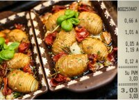 Paskutinės vakarienės už 3 eurus akordas – keptos bulvės-akordeonai