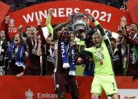 """""""Leicester City"""" triumfavo Anglijos FA Taurės finale"""